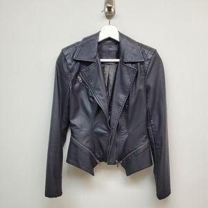 BlankNYC Faux Leather Moto Jacket Black Vegan XS